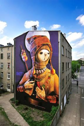 Inti, Urban Forms street art gallery, Lodz, Poland. Photo credit M. Sikora
