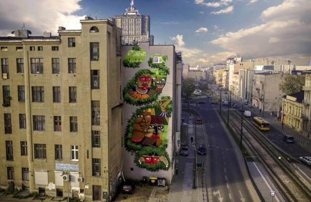 Nunca, Urban Forms street art gallery, Lodz, Poland.