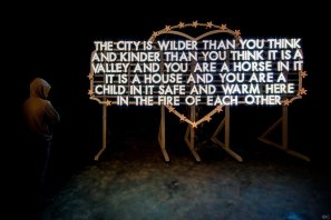 Robert Montgomery, Nuart Post 2016. Street Art Exhibition. Photo credit Ian Cox