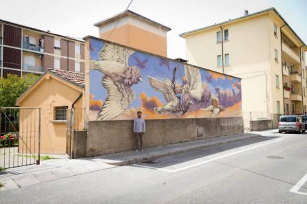 Qbic, Subsidence Street Art Festival, Ravenna, Italy. Photo credit Subsidence.
