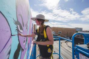 Fafi - Life is Beautiful Street Art Festival - Downtown Las Vegas - Photo credit JustKids