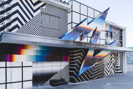 Felipe Pantone - Life is Beautiful Street Art Festival - Downtown Las Vegas - Photo credit JustKids
