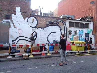 Joachim and 2Dirty, Underground 2016 Street art Shoreditch.