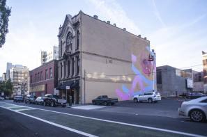 Kevin Ledo, Paint outside the lines project, Portland. Photo credit aptART