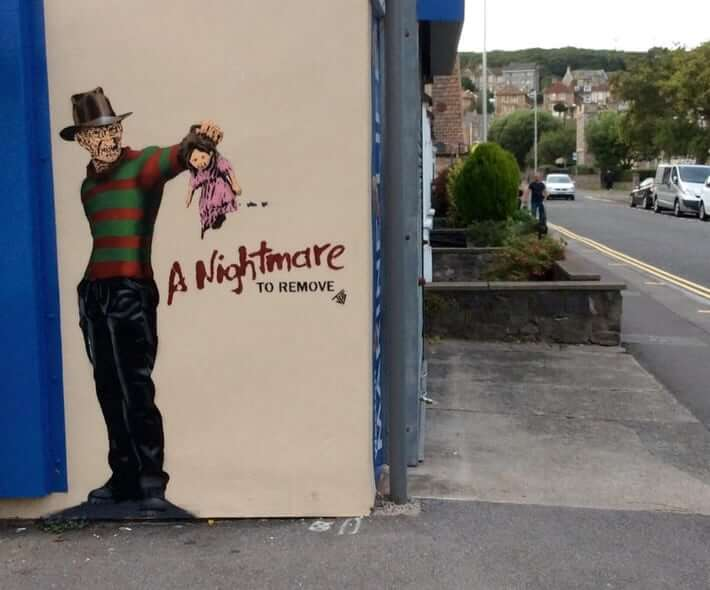 JPS - Freddy Krueger street art. Photo Credit JPS