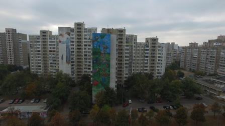 Dima Fatum, Art United Us, Street art Kiev, Ukraine. Photo credit @Dronarium