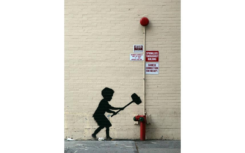 Banksy - Better Out than In - New York Residency - Street Art Intervention 2013