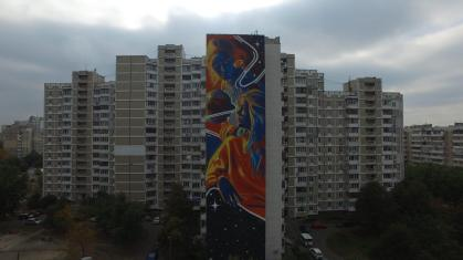 Dourone, Art United Us, Street art Kiev, Ukraine. Photo credit @Dronarium