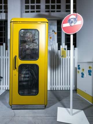 Dan Witz, Magic City, Street Art Exhibition, Dresden, Germany. Photo Credit Rainer Christian Kurzeder