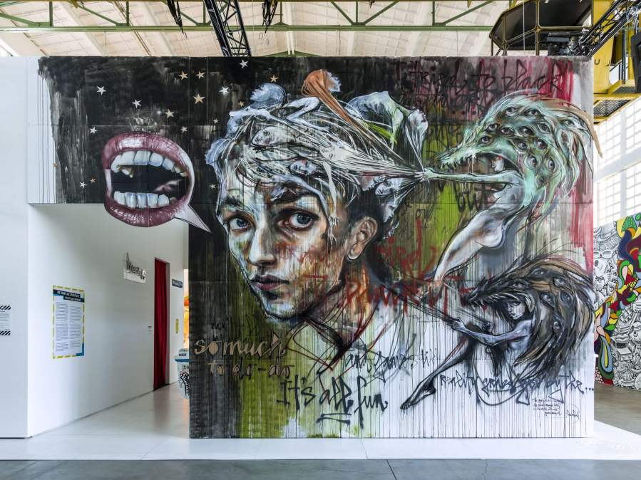 Herakut, Magic City, Street Art Exhibition, Dresden, Germany. Photo Credit Rainer Christian Kurzeder