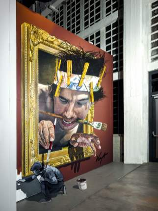 Juandres Vera, Magic City, Street Art Exhibition, Dresden, Germany. Photo Credit Rainer Christian Kurzeder