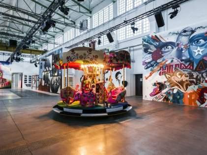 OLEK, Magic City, Street Art Exhibition, Dresden, Germany. Photo Credit Rainer Christian Kurzeder