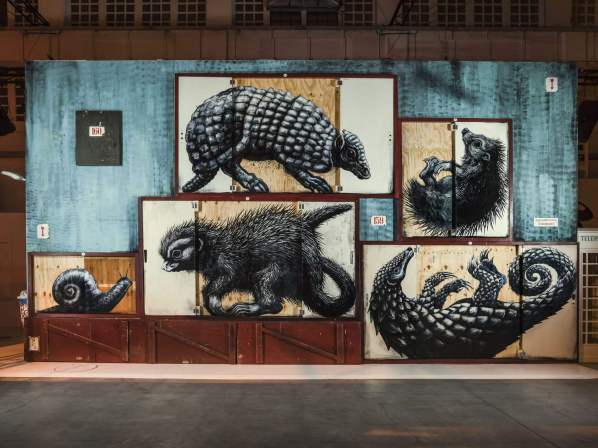 Roa, Magic City, Street Art Exhibition, Dresden, Germany. Photo Credit Rainer Christian Kurzeder