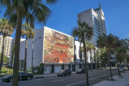Borondo, Street art mural, Jacksonville, Florida. Photo Credit Iryna Kanishcheva