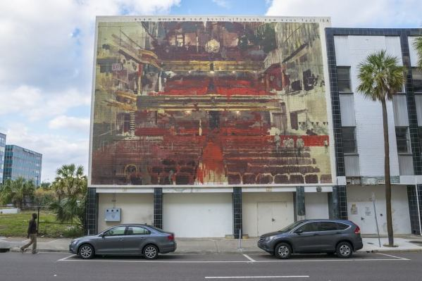 Borondo, Street art mural, Jacksonville, Florida. Photo Credit Iryna Kanishcheva