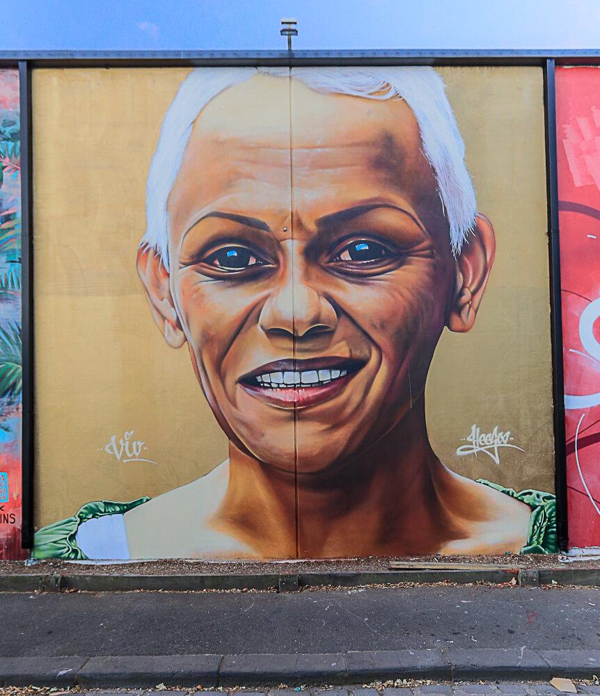 Heesco, Street Art Mural, Fitzroy, Melbourne, Australia 2016. Photo credit p1xels.