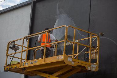 Rone, Street Art Mural, Fitzroy, Melbourne, Australia 2016. Photo credit p1xels.