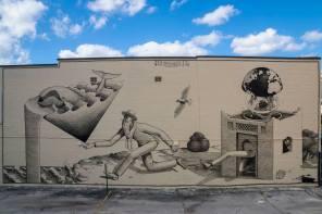 Waone of Intereski Kazki, Street Art Mural, Jacksonville Florida 2016. Photo Credit Iryna Kanishcheva.