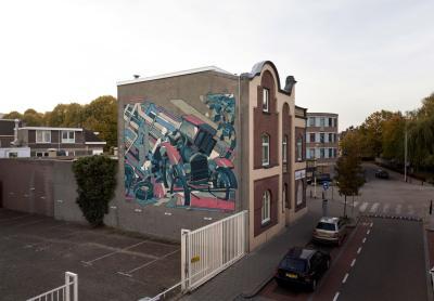 Aryz, Heerlen Murals, Street Art Netherlands. Photo Credit Heerlen Murals / Aryz
