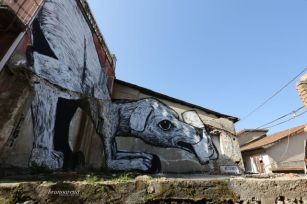 Collettivo FX, NOSTOI Fest, Street Art Festival, Gerocarne, Italy Photo Credit Bruno Arena