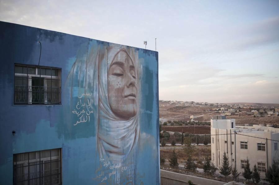 Jonathan Darby, Street Art Mural, Jordan Photo Credit aptART