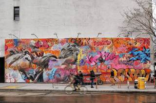 PichiAvo, Houston Bowery Street Art Wall, New York. Photo credit @just_a_spectator
