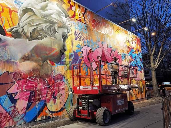 PichiAvo, Houston Bowery Street Art Wall, New York. Photo credit @just_a_spectator