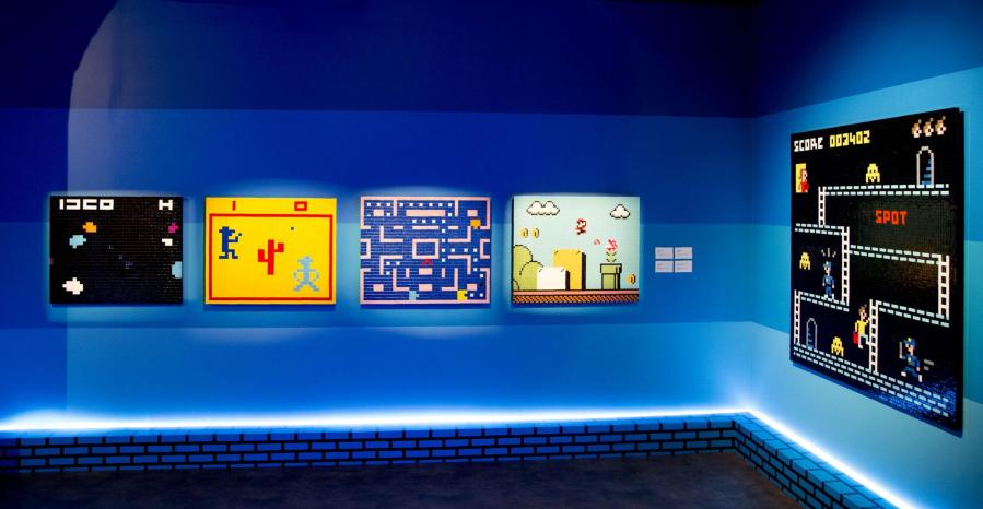"""""""Hello my Game is..."""", Space Invader's solo show, Musee en Herbe, Paris 2017. Photo credit GraffitiStreet"""
