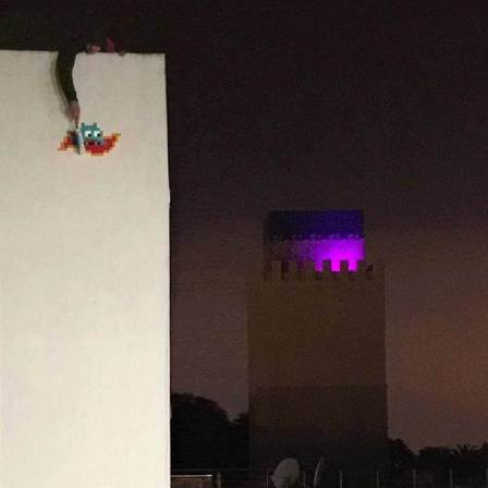 Space Invader, Invasion of Rabat. Photo credit Invader