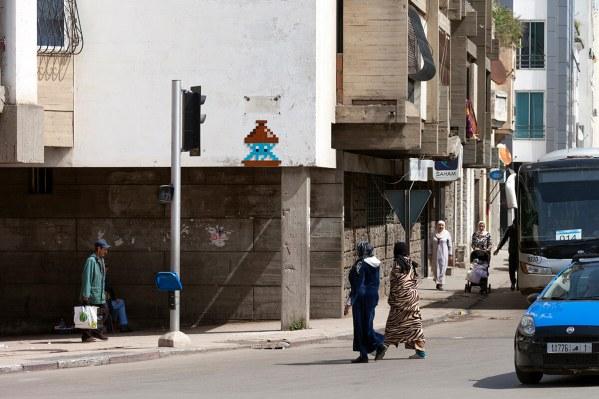 Space Invader RBA_13, Invasion of Rabat. Photo credit Invader