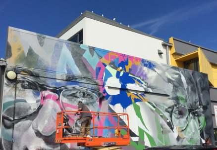 Askew One, Paradox Tauranga Street art Festival 2017. Photo credit Luke Shirlaw