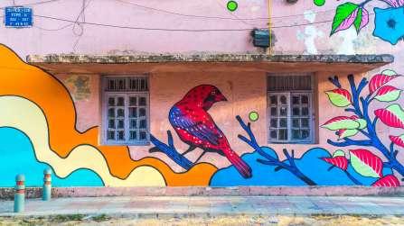 Bicicleta Sem Freio, Lodhi Street Art District, India. Photo Credit Akshat Nauriyal