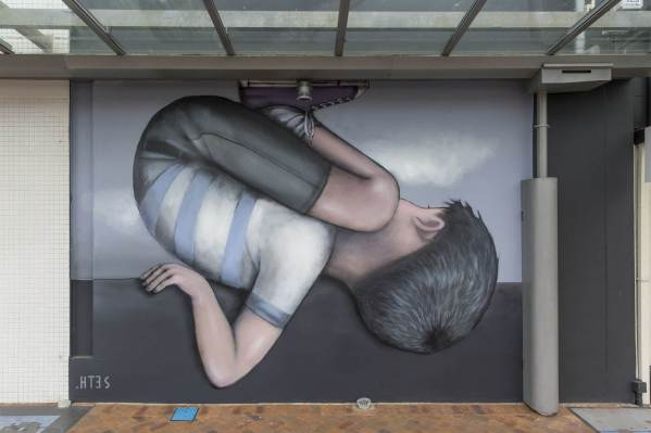 Seth Globepainter, Paradox Tauranga Street art Festival 2017. Photo credit Luke Shirlaw
