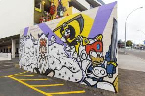 Wongi, Paradox Tauranga Street art Festival 2017. Photo credit Luke Shirlaw
