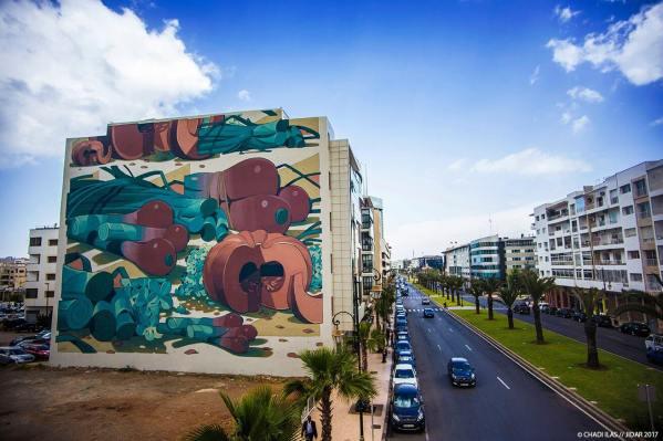 Aryz, Jidar Street Art Festival, Rabat 2017