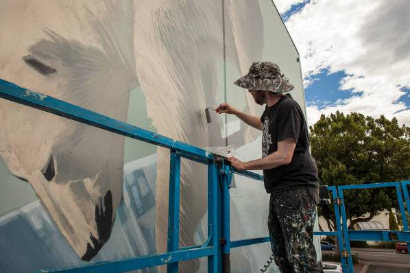 Onur, Seawalls: Artists for Oceans, Napier, NZ. Photo Credit Vinny Cornelli