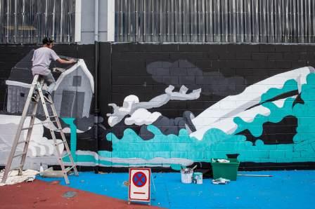 T-Wei, Seawalls: Artists for Oceans, Napier, NZ. Photo Credit Vinny Cornelli