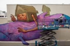 Ekundayo, Seawalls: Artists for Oceans, Napier, NZ. Photo Credit Vinny Cornelli