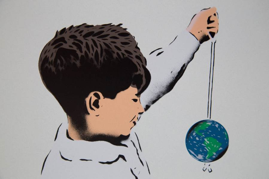 Each globe has been hand sprayed by JPS
