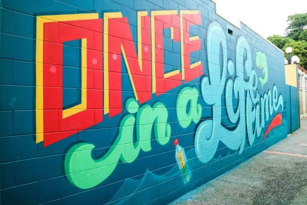 Kelly, Seawalls: Artists for Oceans, Napier, NZ. Photo Credit Miyuki McGuffie