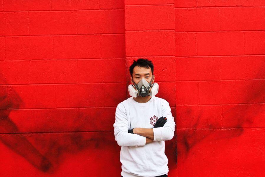 Hua Tunan, 20x21EUG Mural, Street Art Project, Eugene, Oregon 2017. Photo Credit Athena Delene Photography