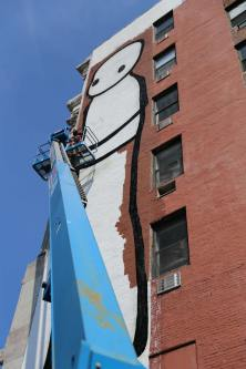 STIK, Street Art Mural, Avenue of the Immigrants, New York 2017. Photo credit @just_a_spectator