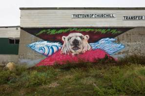 Pat Lazo, Pangeaseed Foundation, Sea Walls: Murals for Oceans Street Art Festival Churchill, 2017. Photo Credit Tré Packard