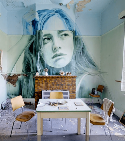 Rone-the-omega-project-street-art-abandoned-house-melbourne-women-lounge-The-DINING-ROOM