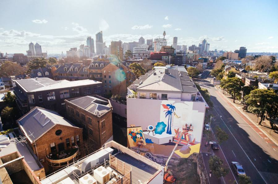 The-Wanderers-episode-Street-Artist -DabsMyla_DABSMYLA's mural taking shape in Surry Hills, Sydney_credit Selina Miles_80