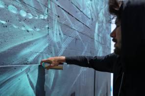 Li Hill, Pangeaseed Foundation, Sea Walls: Murals for Oceans Street Art Festival Churchill, 2017. Photo Credit Tré Packard