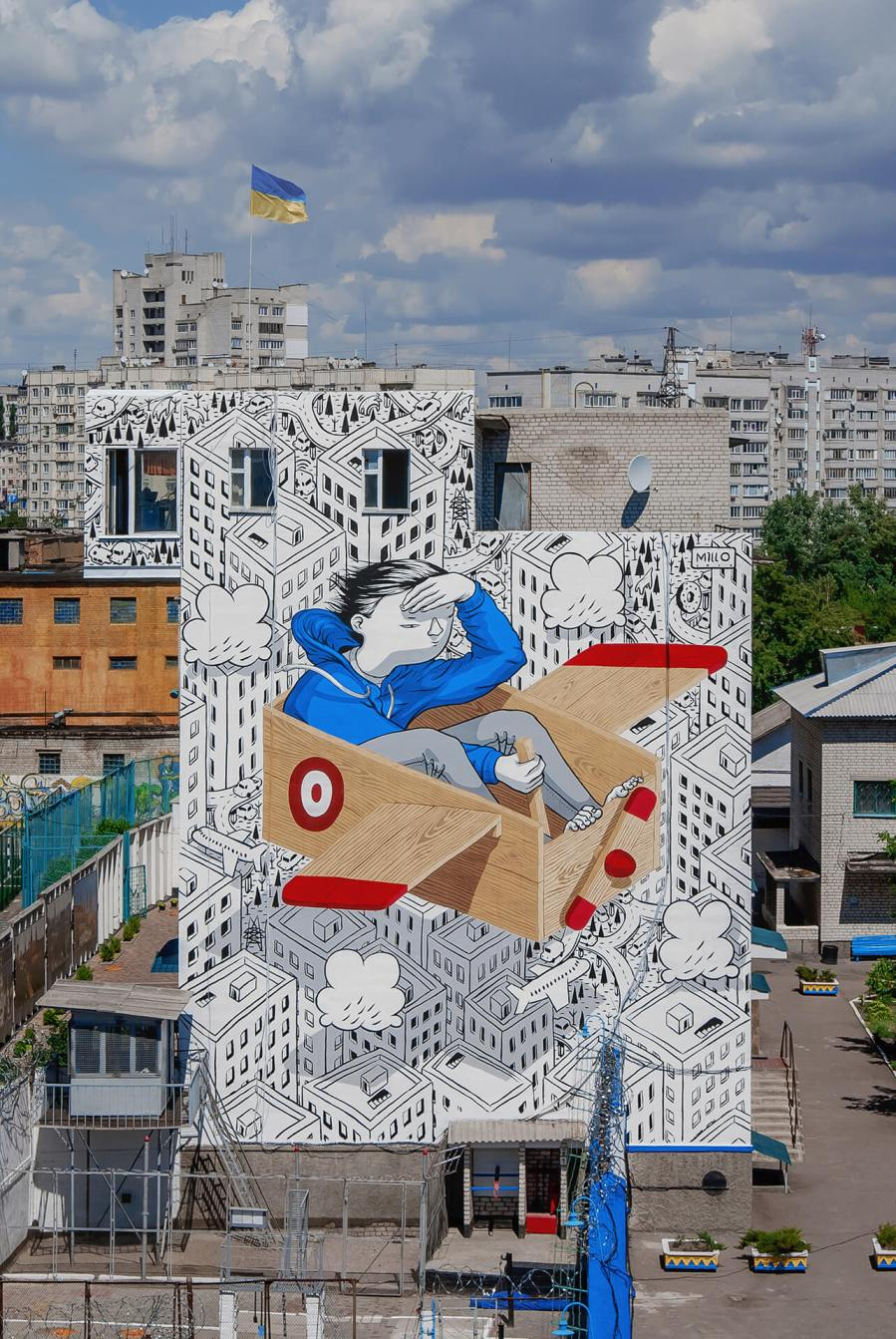 Millo, Back to School! Ukraine 2017. Photo credit Millo