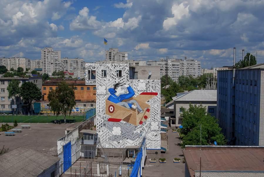 Millo, Back to School! Ukraine 2017. Photo credit Millo
