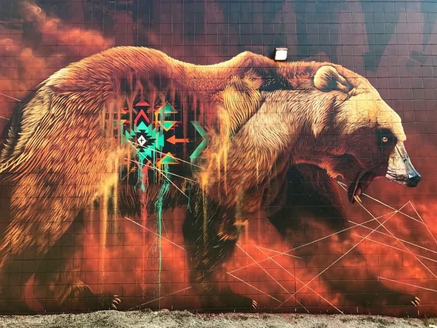 Sonny, Bear, Cambridge Street Art Festival, Canada. Photo Credit Sonny