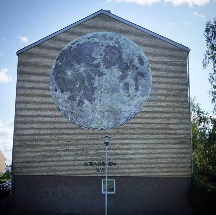 Faith47, Artscape Street Art Festival, White Moose Project, Sweden 2017.